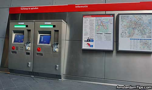 amsterdam metro ticket machines