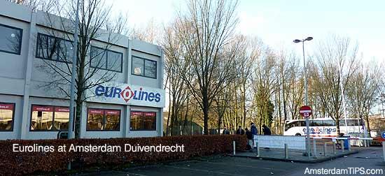eurolines coach amsterdam duivendrecht