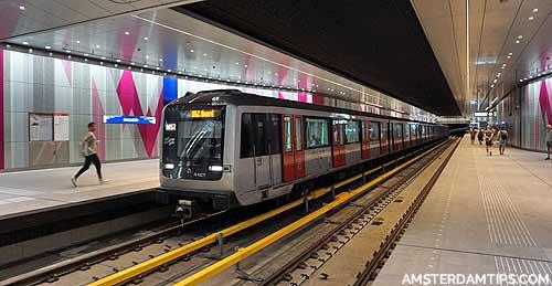 europaplein metro station amsterdam