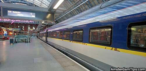 eurostar platforms at london st pancras