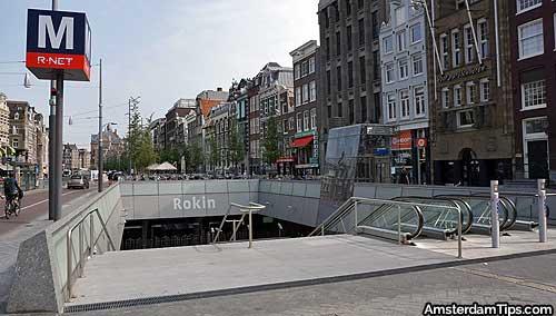 rokin metro station amsterdam