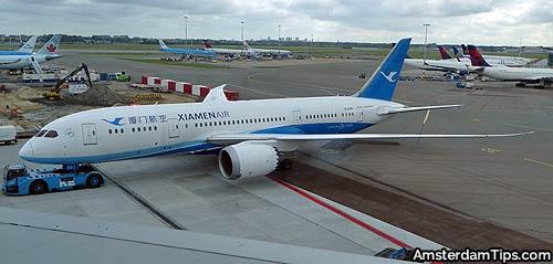 xiamen air boeing 787 amsterdam