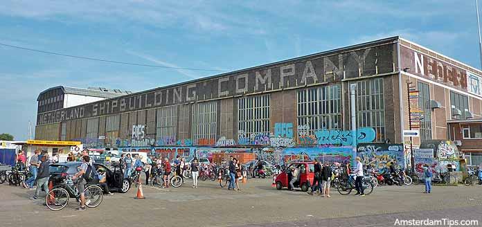 ij-hallen ndsm wharf amsterdam