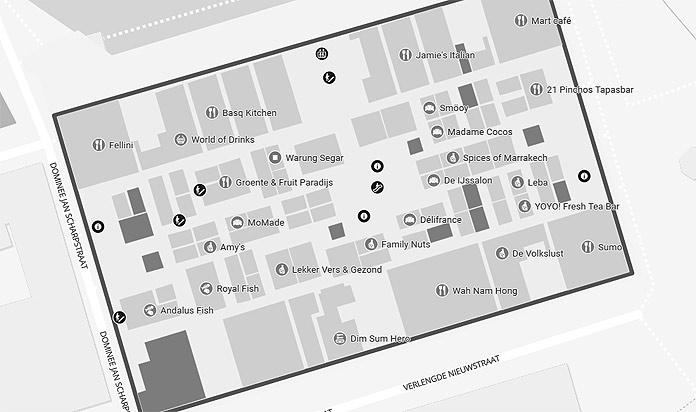 markthal rotterdam map