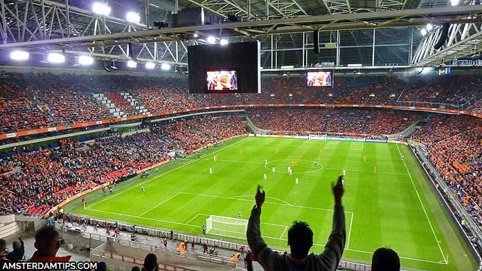 netherlands football match johan cruyff arena amsterdam