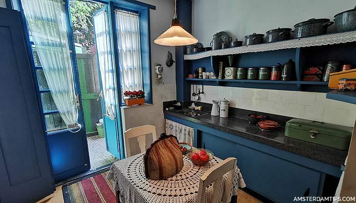 social housing kitchen at museum het schip amsterdam