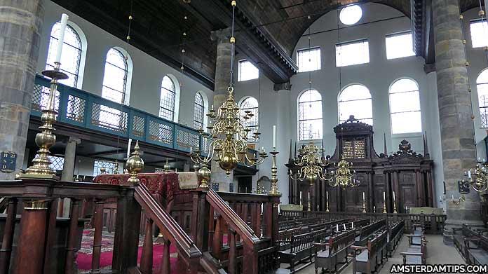 portuguese synagogue amsterdam interior