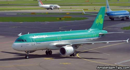 aer lingus aircraft at amsterdam