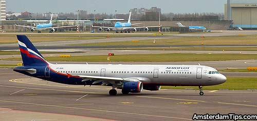 aeroflot aircraft amsterdam