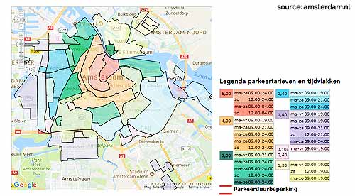 street parking rates amsterdam