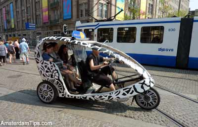 Bike Taxis Amsterdam Netherlands Wielertaxi Cycles