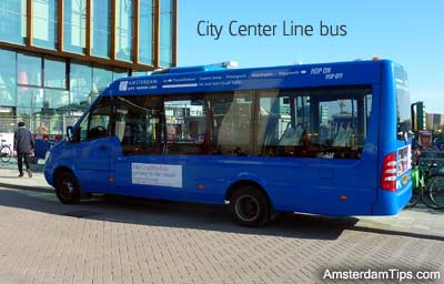 city center line bus amsterdam