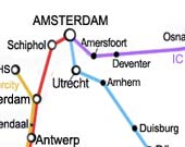rail map amsterdam
