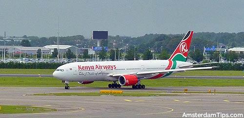 kenya airways aircraft at amsterdam