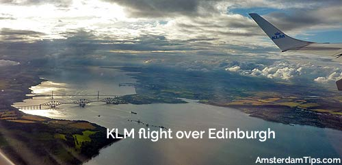 klm flight edinburgh-amsterdam