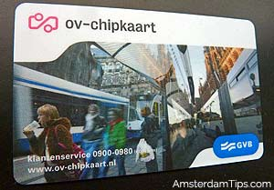 ov-chip card gvb amsterdam