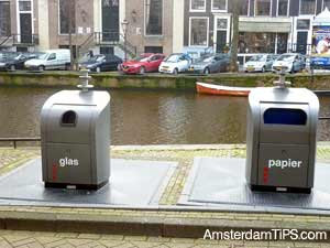 recycling paper and glass in amsterdam