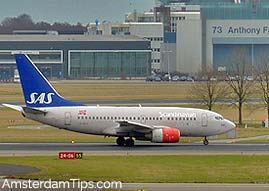 SAS flight amsterdam