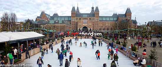 ice rink museumplein amsterdam