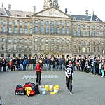 free entertainers dam square amsterdam