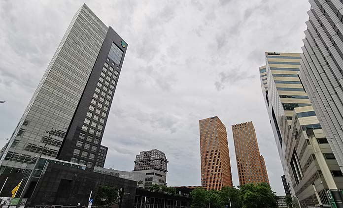 abn amro and symphony towers amsterdam zuidas