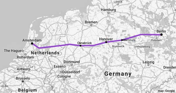 amsterdam-berlin rail map