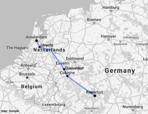 How To Travel Amsterdam To Frankfurt By Air Train Or Coach