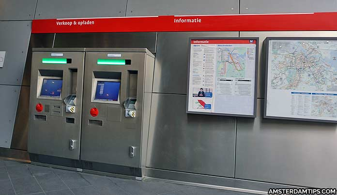 amsterdam metro ticket machines
