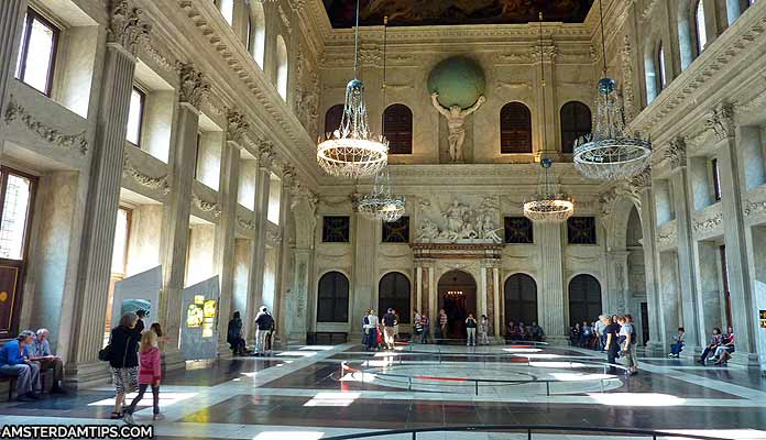 citizens hall royal palace amsterdam