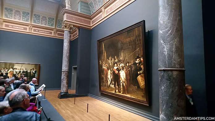 rembrandt's nightwatch (nachtwacht) at rijksmuseum amsterdam