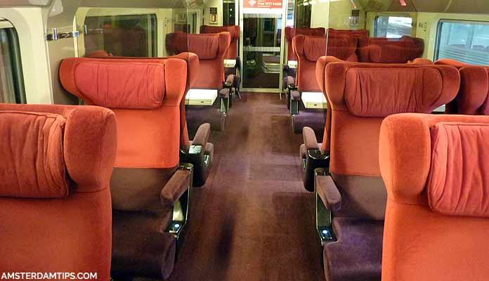 thalys comfort class seats