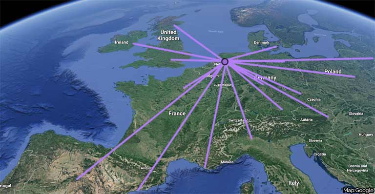Train Travel In Ireland Map.How To Travel Amsterdam To Dublin By Air Train Or Coach