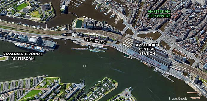 amsterdam cruise port terminal map
