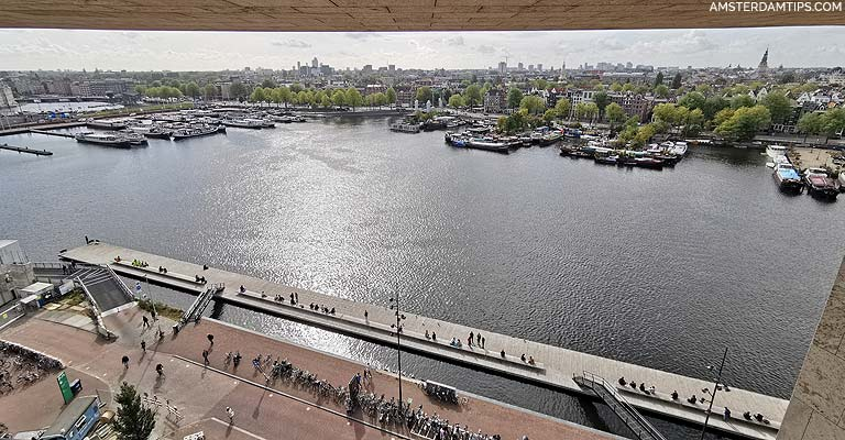 view from amsterdam central library