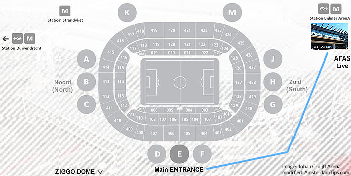 johan cruijff arena stadium zones