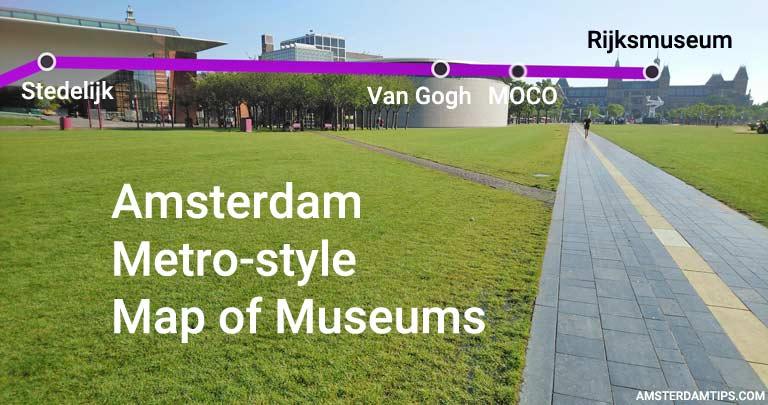Amsterdam Museums Metro-style Map - AmsterdamTips com