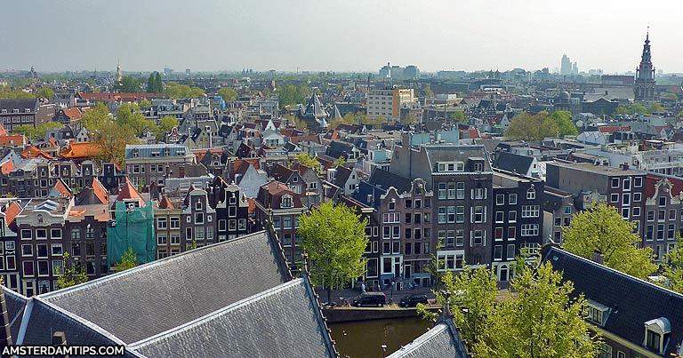 oude kerk tower amsterdam view