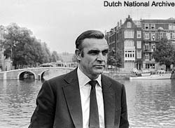 sean connery in amsterdam for diamonds are forever film