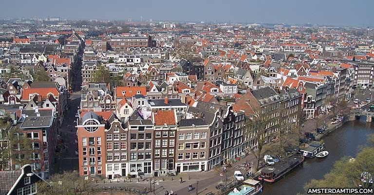westerkerk tower amsterdam view