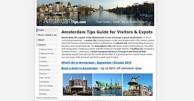 amsterdamtips.com website 2010
