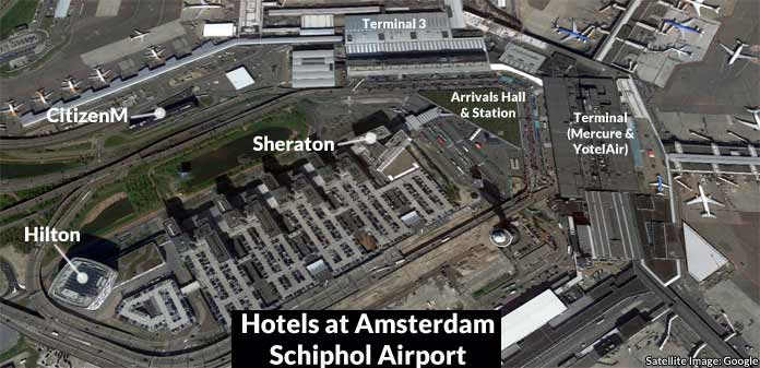 amsterdam schiphol airport hotels map