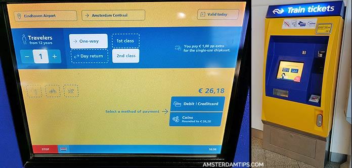 ns ticket machine eindhoven airport