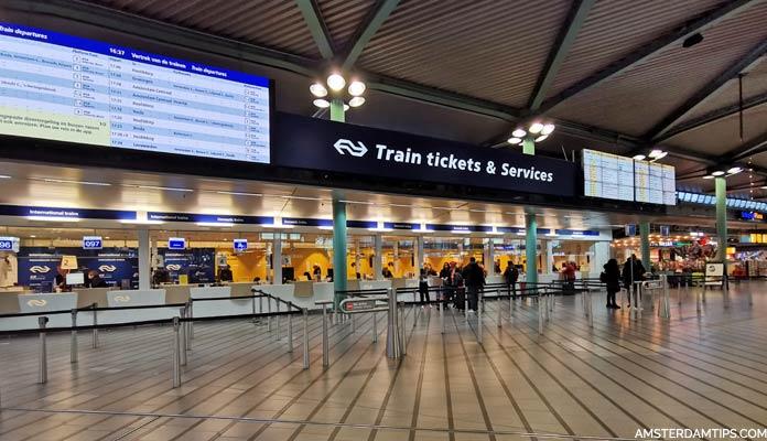 train tickets desk amsterdam schiphol airport