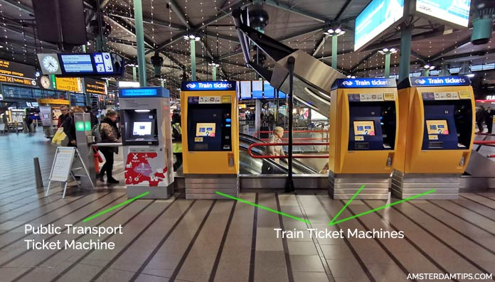 transport ticket machines amsterdam schiphol airport