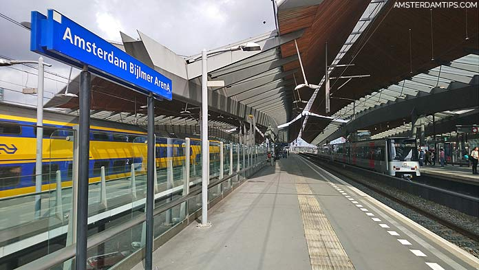 amsterdam bijlmer arena station platforms
