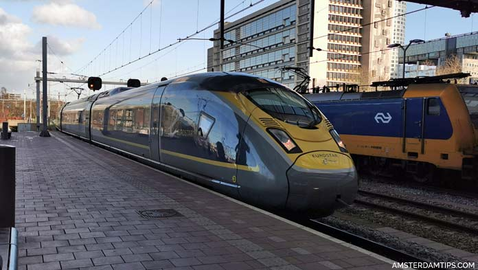 eurostar train at rotterdam central station