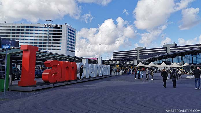 iamsterdam sign at amsterdam schiphol airport