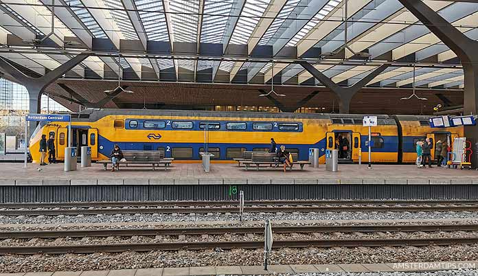ns dutch railways train and passengers