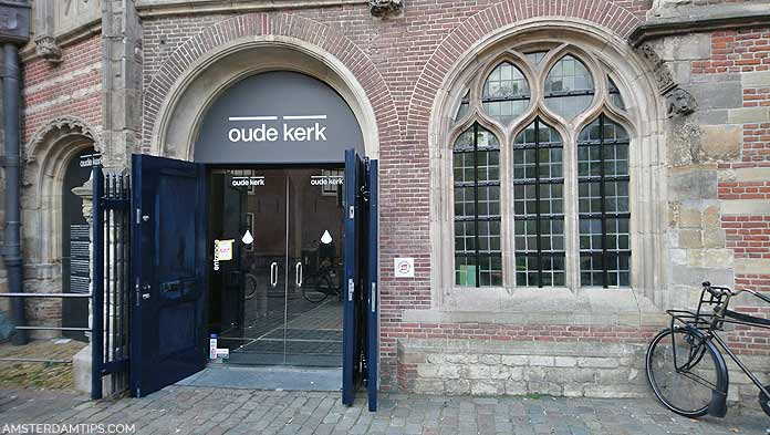 oude kerk entrance amsterdam