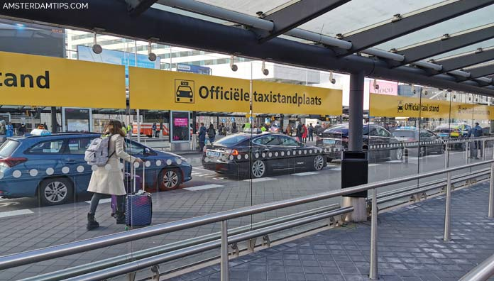 amsterdam schiphol airport taxi stand